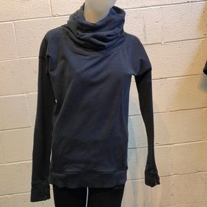 Lululemon blue LS cowl neck top, sz 4, 62658